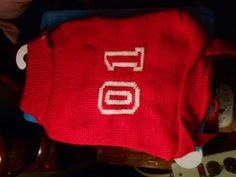Number 01 Doggy Sweater !! Red or Purple  Small