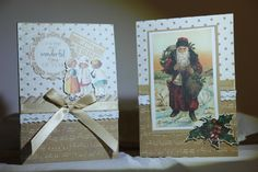 Kaisercraft yuletide collection, using the 12 x 12 papers, and concentrating on the cream /gold colour combination, which makes a nice change from the green/red combo.I also used the matching colle...