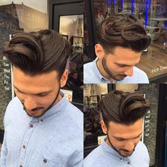 Haircut by @egobarbers on Instagram http://ift.tt/24LLbov Find more cool hairstyles for men at http://ift.tt/1eGwslj and http://ift.tt/1LLP91m