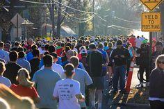 Start line of the Bentonville Half Marathon, Bentonville Running Festival produced by the Bentonville, AR Parks and Rec Dept. Stuff To Do, Things To Do, Bentonville Arkansas, Parks N Rec, 50 States, Planting, Marathon, Festivals, Roots