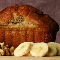 Banana Bread: use honey and applesauce instead of sugar and oil