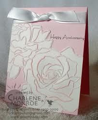 stampin up anniversary cards - Google Search; Manhattan flower; pretty in pink; shimmery white paper
