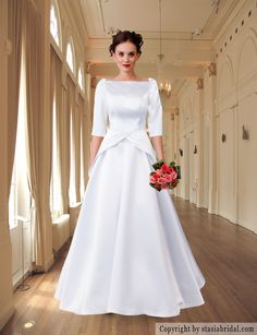 Modest wedding dress/modest wedding gown by custom gown designer Stasia Modest Couture