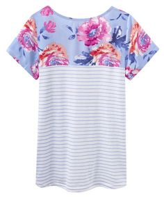 Joules SS16 Suzy Jersey Woven Mix Top