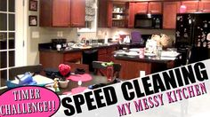 In today's video I am setting a timer to see if I can get my messy kitchen cleaned up before the timer goes off! I had been gone all day while my husband and girls stayed home to do homeschool and other things.  After I came home and we ate dinner, this is what the kitchen looked like.    Come along with me as I speed clean my kitchen and challenge myself to get it done quickly!