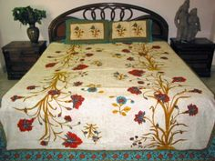 3p India Bedding Throw Red Floral Print Cotton Bedsheet Bedspread Set by Mogul Interior, http://www.amazon.com/dp/B0098WOMAK/ref=cm_sw_r_pi_dp_w0Wtqb0KR094S$59.99