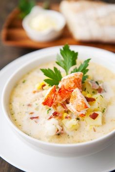 Homemade Lobster Chowder - one of my favorites.