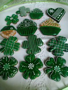 St. Patrick's Day Honiees #cookies