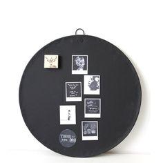 Magneetbord rond in zwart mat!
