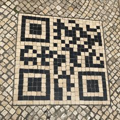 """Kim Goodwin on Twitter: """"What problem or opportunity is best addressed with a QR code made of cobblestones? 🤔… """""""