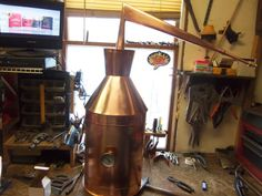 7 Gallon Copper Moonshine Still By Ron Yurcak in Home & Garden, Food & Beverages, Beer & Wine Making | eBay