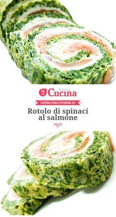 Rotolo di spinaci al salmone