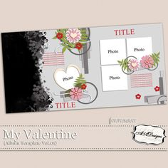 My Valentine - Album Template Vol.1 by AADesigns