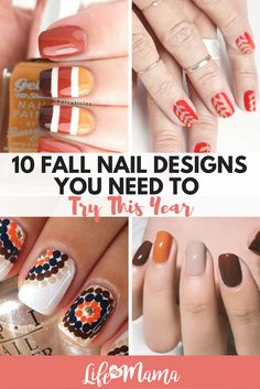Fall nail designs that are perfect for crisp weather, scarves and boots!