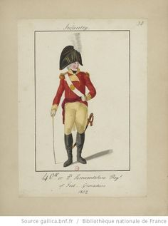 Military costumes, 1796-1804.] / William Loftie 40th Regiment