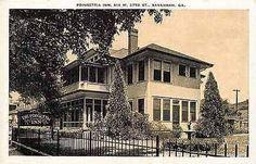 Savannah Georgia GA 1930s Poinsettia Inn West 37 Street Antique Vintage Postcard