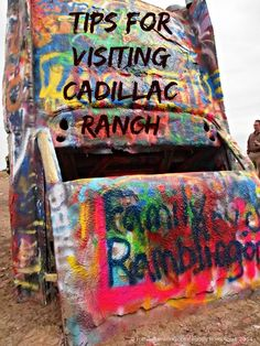 Tips for Visiting Cadillac Ranch. Cadillac Ranch, located just east of Amarillo, Texas along Interstate 40, is an iconic roadside attraction and a stop for many roadtrippers as they cross the southern plains on historic Route 66.