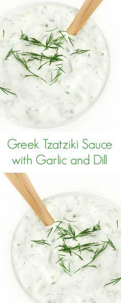 Greek Tzatziki Sauce with Garlic and Dill Recipe - The Lemon Bowl