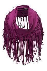 How to make a fabric fringe scarf. T Shirt Scarfs: Summer Tassle Scarf - Step 3