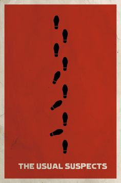 """The Usual Suspects"" by Matt Owen, Little Rock // Minimalist Film Poster for the movie 'The Usual Suspects' Best Movie Posters, Minimal Movie Posters, Minimal Poster, Cinema Posters, Cool Posters, Film Posters, Simple Poster, Graphic Posters, Type Posters"