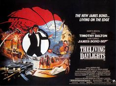 """1987 ♦ The Living Daylights - is the fifteenth entry in the James Bond film series and the first to star Timothy Dalton as the fictional agent James Bond. The film's title is taken from Ian Fleming's short story, """"The Living Daylights"""". James Bond Movie Posters, James Bond Movies, Joe Don Baker, Timothy Dalton, Cinema Tv, The Lone Ranger, Living On The Edge, Hits Movie, Bond Girls"""