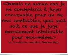 Simone Weil and relativism