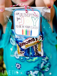 Back To School Teacher Gift Idea and FREE DOWNLOAD by Love The Day: Jumping For Joy!
