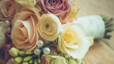 Preview wallpaper bridal bouquet, rose, design, composition 3840x2160