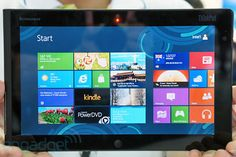 Lenovo ThinkPad tablet running Windows 8... Engaget has a sneak peek into a new Lenova tablet running Windows 8. It has a 10.1-inch screen, whose 1366 x 768 resolution seems pretty standard for a Windows 8 tablet of this size. On board, you'll also find a pair of 2- and 8-megapixel cameras, as well as micro-HDMI and a docking connector, which suggests some peripherals are on the way. Check the video here... http://www.engadget.com/2012/06/05/lenovo-thinkpad-tablet-windows-8/#