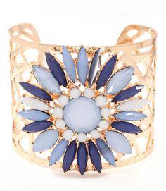 Blue Flower Cuff