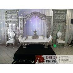 louez cet imposant dcor compos dun trone de mariage de 2 chaises d - Location Trone Mariage Pas Cher