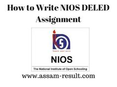 FreeFreeFree Nios DElEd Assignment Course With Complete