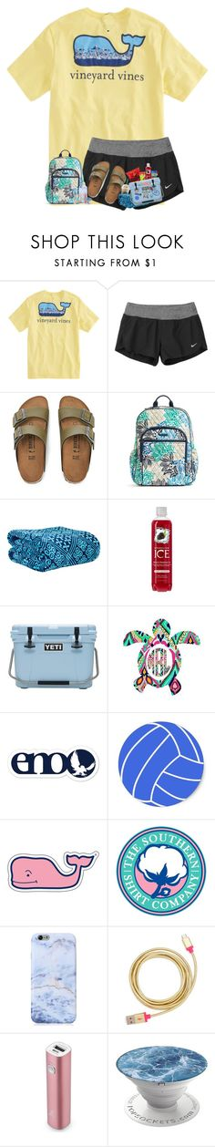 """summer road trip☀️"" by arieannahicks ❤ liked on Polyvore featuring Regatta, NIKE, Birkenstock, Vera Bradley, Southern Tide, Vineyard Vines, Southern Proper, Patagonia, ban.do and Samsung"