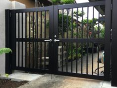 Gate Series — KunkelWorks Grill Gate Design, Steel Gate Design, Front Gate Design, Front Gates, Entrance Gates, Fence Gate, Fences, Gallery Wall Layout, Door Design Interior