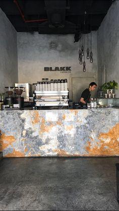 Interior design blackk coffee kuwait by Sarah sadeq architects