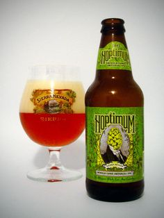 Sierra Nevada Hoptimum Imperial IPA 10.4% alc. I don't know a whole lot in the difference of regular, Double's, or Imperial IPA's other than there stronger. Hoptimum is one of the greatest Imperial IPA's I have ever had. It has a strong Hoppy, floral taste that stays with you the entire time you drink it. Imperials and doubles are hit and miss with taste sometimes, Hoptimum is spot on. Rate 10/10