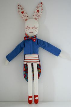Circus rabbit doll by Miko design