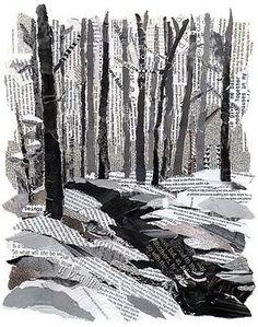 Bild aus Papierschnippsel