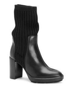 17aed37a481 AQUATALIA Imogen Leather Sock Booties.  aquatalia  shoes   Leather Socks