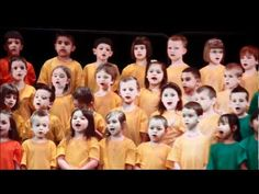 """""""The World is a Rainbow"""" song with actions, kids in different colored shirts. CUTE!"""