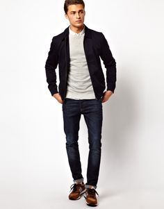 Casaca + chompa + camisa + jeans para ir AL CINE