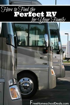 How to Find the Perfect RV for You