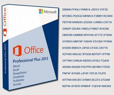 microsoft office 2013 professional plus product key for windows 7