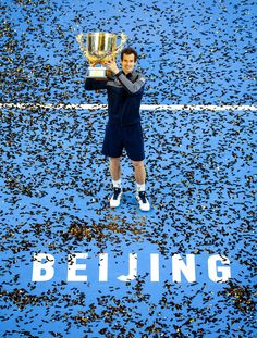 BEIJING, CHINA - OCTOBER 09: Andy Murray of Great Britain holds the winners trophy after winning the Men's Singles final against Grigor Dimitrov of Bulgaria on day nine of the 2016 China Open at the China National Tennis Centre on October 9, 2016 in Beijing, China. (Photo by VCG/VCG via Getty Images) via @AOL_Lifestyle Read more: http://www.aol.com/article/sports/2016/10/14/the-best-photos-from-the-week-in-sports-10-7-10-14/21582981/?a_dgi=aolshare_pinterest#fullscreen