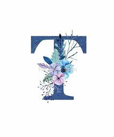 Alphabet Letters Design, Alphabet And Numbers, Wood Letters, Monogram Alphabet, Winter Bouquet, Winter Flowers, Monogram Design, Lettering Design, Alphabet Wallpaper