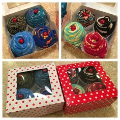 LulaRoe legging cupcakes! Leggings rolled lengthwise to create cupcakes, perfect gift idea for LulaRoe lovers! Leggings - http://amzn.to/2id971l
