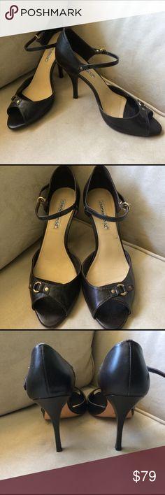 """Charles David Brown Heels Charles David Dark Brown heels in """"like new"""" condition. Worn once Charles David Shoes Heels"""