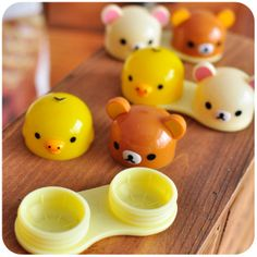 Cute Rilakkuma Contact Lenses Case... This would be good for cosplay contact lenses