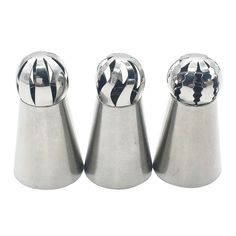 Russian Ball Tips 3Pcs/set, Kootips Sphere Ball Tips Russian Icing Piping Nozzles Tips Pastry Cake Fondant Cupcake * Hurry! Check out this great item : Baking tools