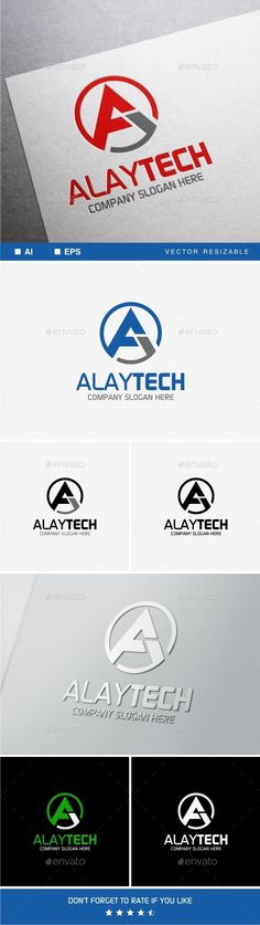 Alaytech � A Letter - Logo Design Template Vector #logotype Download it here: http://graphicriver.net/item/alaytech-a-letter-logo-template/9975783?s_rank=1715?ref=nexion
